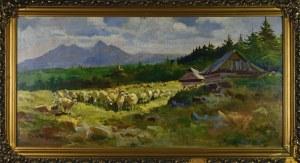 Michał STAŃKO (1901 - 1969), Pejzaż górski z owcami