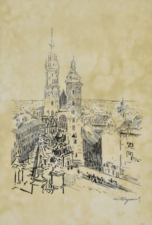 Leon WYCZÓŁKOWSKI (1852 - 1936),, Kościół Mariacki na Rynku w Krakowie, 1915