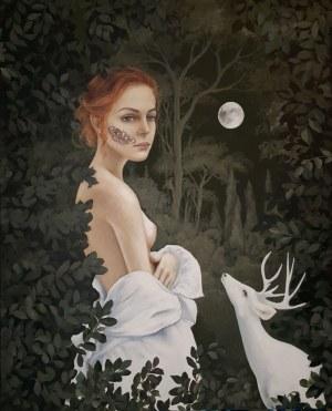 Patrycja Kruszyńska- Mikulska, Zwabiona światłem księżyca, 2019