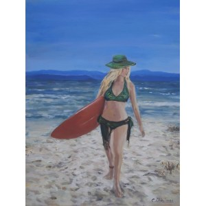Celina Reiss-Litke (ur.1950), Na plaży, 2020