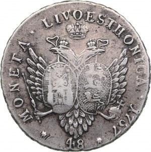 Russia - Livonia & Estonia 48 kopecks 1757 - Elizabeth (1741-1762)