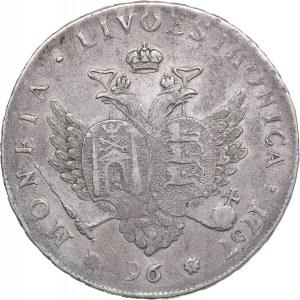 Russia - Livonia & Estonia 96 kopecks 1757 - Elizabeth (1741-1762)