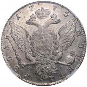 Russia Rouble 1775 СПБ-ОЛ - Catherine II (1762-1796) NGC MS 61