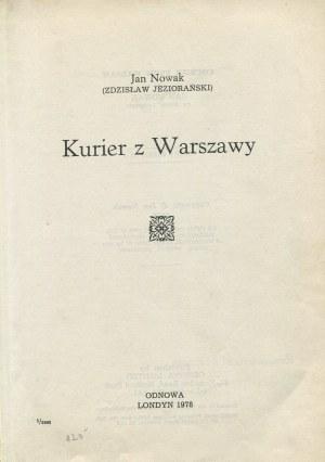 NOWAK Jan (JEZIORAŃSKI Zdzisław) - Kurier z Warszawy [wydanie pierwsze]
