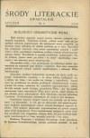 Środy literackie 1935-1937 [K. I. Gałczyński, Czesław Miłosz, Teodor Bujnicki]