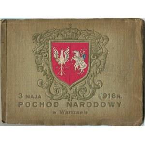 Pamiątka Pochodu Narodowego 3 maja 1916 r. [album zdjęć]