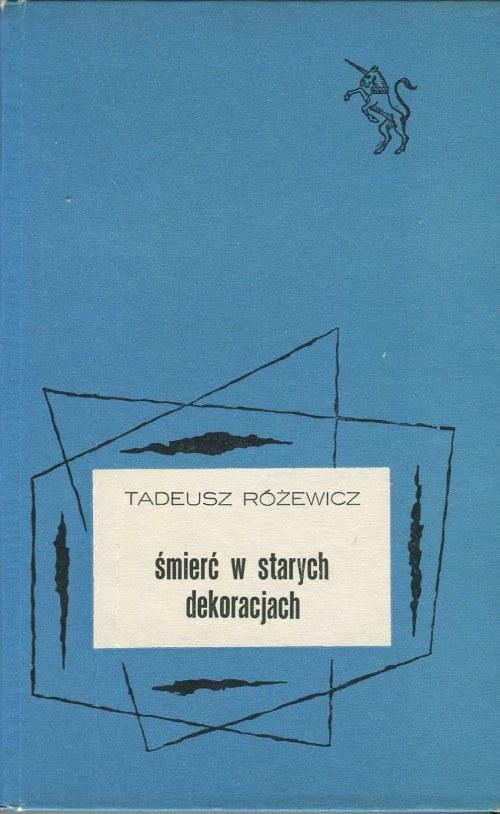 RÓŻEWICZ Tadeusz - Śmierć w starych dekoracjach [AUTOGRAF]