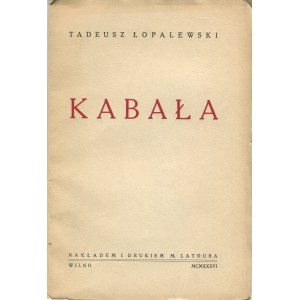 ŁOPALEWSKI Tadeusz - Kabała [Wilno 1936]