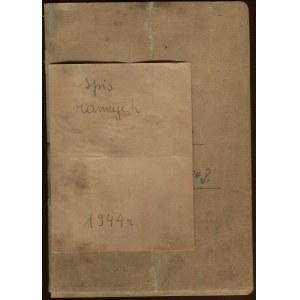 [Powstanie warszawskie] Rękopiśmienny spis rannych z sierpnia i września 1944 r. [Śródmieście]