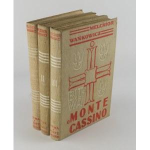 WAŃKOWICZ Melchior - Bitwa o Monte Cassino. Rzym 1945-47 [AUTOGRAF]