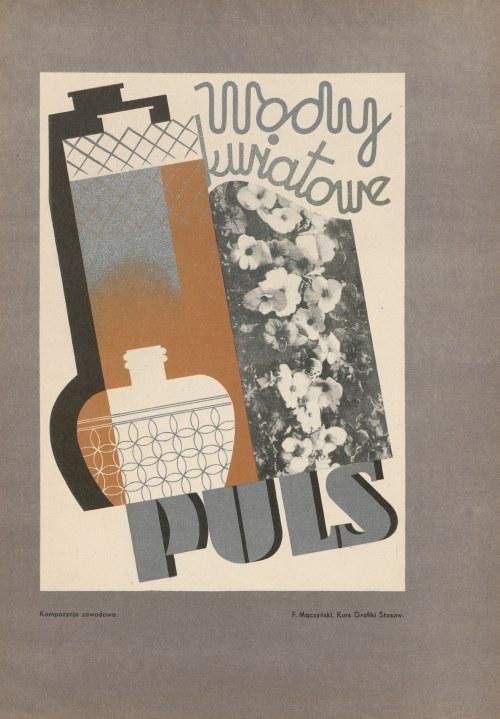 reklama MACZYŃSKI F. - Wody kwiatowe Puls [1933]