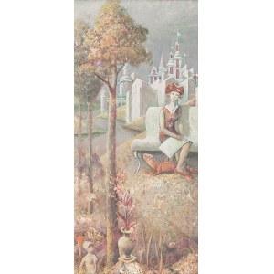 Ildefons Houwalt (1910 Nikołajewsk nad Amurem-1987 Poznań), W magicznym ogrodzie, 1969 r.