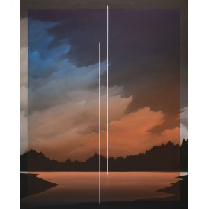 Łukasz Patelczyk (ur. 1986), Blue and orange gradient glass, 2020