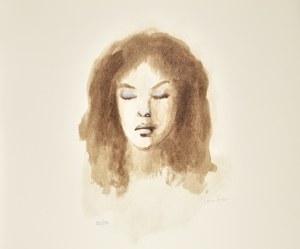 Leonor FINI (1907-1996), Głowa dziewczyny z zamkniętymi oczami