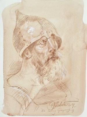 Dariusz KALETA Dariuss (ur. 1960), Popiersie rycerz z prawego profilu, 2019