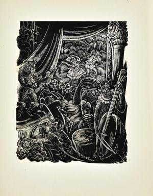 """Stefan MROŻEWSKI (1894-1975), Kompozycja z książki """"Piękna i bestia"""""""