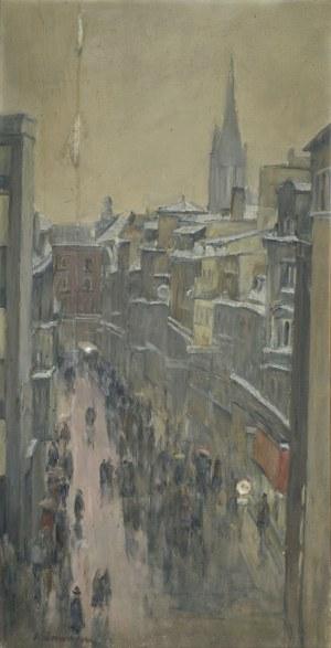 """Olgierd BIERWIACZONEK (1925-2002), """"Starówka"""" w Katowicach – widok z okna pracowni, 1981"""