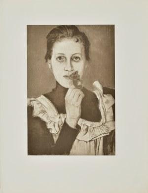 Stanisław WYSPIAŃSKI (1869-1907), Dziewczynka z fiołkiem