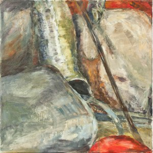 Ewa Ludwikowska (ur. 1956), Kompozycja z szarą konewką, 2016