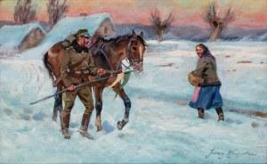 Jerzy Kossak, Ułan pytający o drogę
