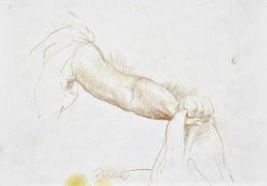 Dariusz KALETA Dariuss (ur. 1960), Szkic ramienia oraz ręki trzymającej kawałek materiału