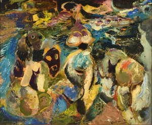 Ludwik KLIMEK (1912-1992), Kąpiące się, 1961
