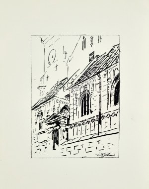 Leon WYCZÓŁKOWSKI (1852 - 1936), Wejście do katedry na Wawelu, 1922
