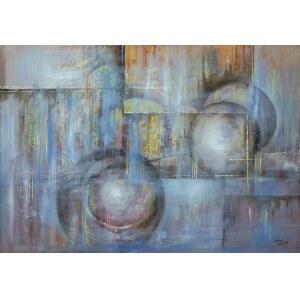 Anna Sandecka-Ląkocy, Blue Light, 2019 r., olej na płótnie, 70 x 100 cm, sygn.p.d