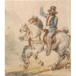 Piotr Michałowski (1800 Kraków – 1855 Krzyżtoporzyce), Para koni w zaprzęgu z pocztylionem, lata 1832–1835