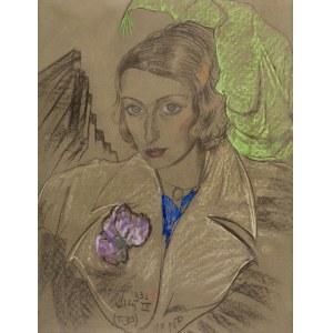 Stanisław Ignacy Witkiewicz (1885 Warszawa - 1939 Jeziory na Polesiu), Portret Janiny Turowskiej-Leszczyńskiej, 1932