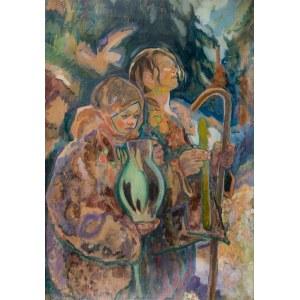 Kazimierz Sichulski (1879 Lwów - 1942 tamże), Huculskie dzieci