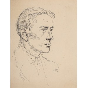 Wlastimil Hofman (1881 Praga - 1970 Szklarska Poręba), Portret mężczyzny
