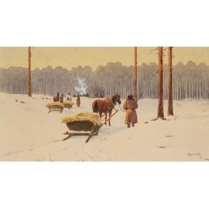 Kajetan Kosiński (1847 Łużany na Bukowinie - 1935 Lwów), Na skraju lasu