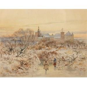 Michał Pociecha (1852 Prokocim - 1908 Kraków), Ślizgawka pod Wawelem