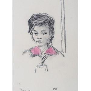 Bencion(Benn) Rabinowicz (1905 Białystok - 1989 Paryż), Portret kobiety, 1958 r.