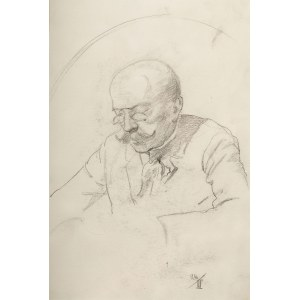 Karol Kossak (1896 Lwów-1975 Ciechocinek), Portret mężczyzny