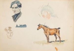 Karol Kossak (1896 Lwów-1975 Ciechocinek), Szkice