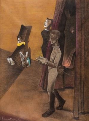 Jean Lambert-Rucki (1888 Kraków - 1967), Scena teatralna, 1944 r.