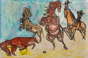 Stanisław Eleszkiewicz (1900 Czutowo k. Połtawy - 1963 Paryż), Cztery konie