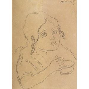 Emmanuel Katz (zw. Mané-Katz) (1894 Krzemieńczuk - 1962 Tel Awiw), Portret dziewczynki