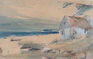 Marian Mokwa (1889 Malary - 1987 Sopot), Osada rybacka, lata 30-te XX w.