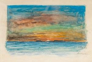 Marian Mokwa (1889 Malary - 1987 Sopot), O zmierzchu nad morzem, 1922 r.