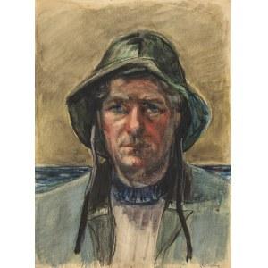 Srzednicki Konrad (1894-1993), Portret rybaka, przełom lat 40. 50.