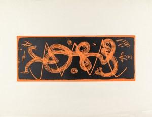 Stern Jonasz (1904-1988), Kompozycja (pomarańczowo-czarna), lata 50. XX w.