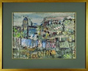 Jan CYBIS (1897-1972), Ogrodzenie klasztoru św. Katarzyny – dzwonnica, 1952