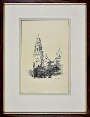 Leon WYCZÓŁKOWSKI (1852 - 1936),, Katedra na Wawelu, 1915