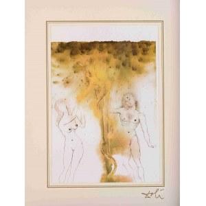 Salvador Dali, Peccatum originis z teki 40 Paintings of the Bible