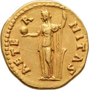 Řím, Faustina starší, manželka Antonina Pia, Aureus, Rv: