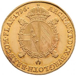 František II., 1792 - 1835, Sovráno 1796 B, Kremnica, 11.098g, nep.vada razidla,