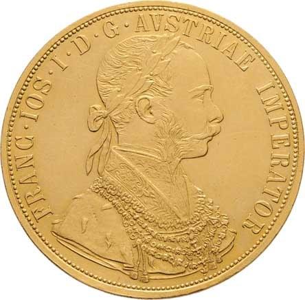 František Josef I., 1848 - 1916, 4 Dukát 1910, 13.848g, nep.hr., nep.rysky, pěkná